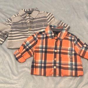 2 - 3/4 sleeves flannels
